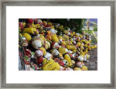 Cascade Of Buoys Framed Print