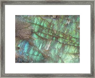 Cascade Of Green Framed Print