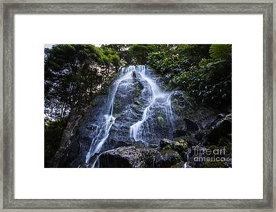 Cascade On Sao Muigel Framed Print
