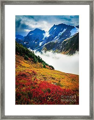 Cascade Pass Peaks Framed Print