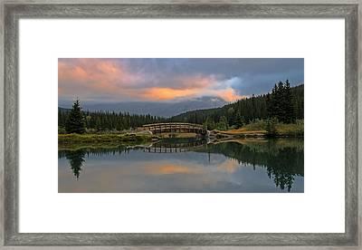 Cascade Ponds Sunrise Framed Print