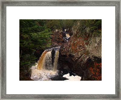 Cascade River Framed Print by James Peterson