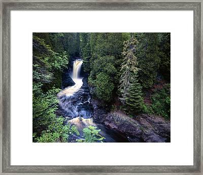 Cascade River Lower Falls Framed Print by Tim Hawkins