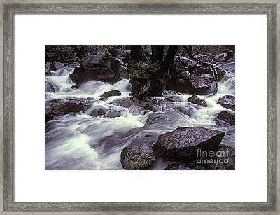 Cascade Framed Print by Ron Sanford