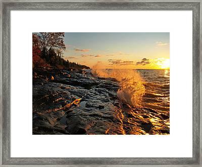 Cascade Sunrise Framed Print by Melissa Peterson
