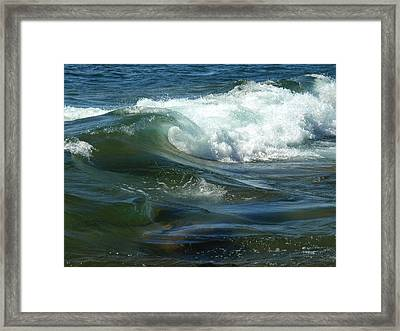 Cascade Wave Framed Print by James Peterson