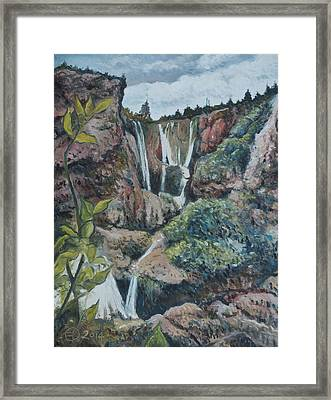Cascades D'ouzoud Morocco 2014 Framed Print by Enver Larney