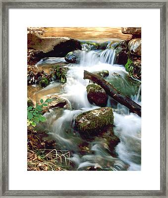 Cascades In Roman Nose State Park Framed Print