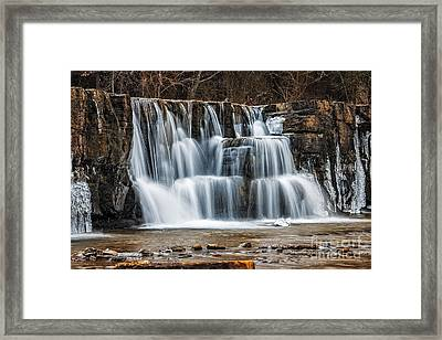 Cascades Framed Print by Larry McMahon