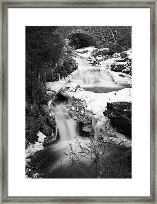 Cascades Of Velvet Framed Print by Luke Moore