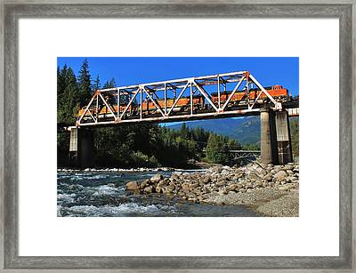 Cascades Rail Bridge Framed Print by Benjamin Yeager