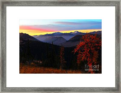 Cascades Sunrise Framed Print by Jane Axman