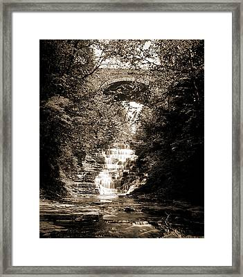 Cascadilla Gorge, Ithaca Framed Print by Litz Collection