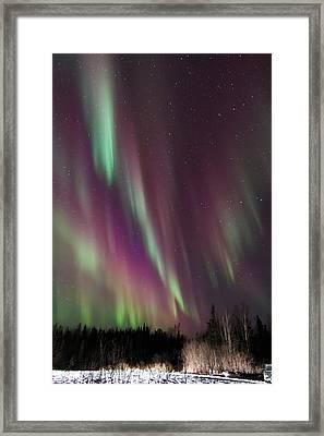 Cascading Aurora Framed Print