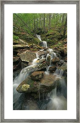 Cascading Creek Mulberry River Arkansas Framed Print by Tim Fitzharris