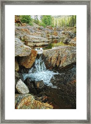 Cascading Downward Framed Print
