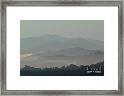 Framed Print featuring the photograph Cascading Hills  by Gary Bridger
