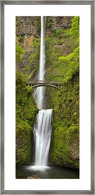 Cascading Panorama Framed Print by Andrew Soundarajan
