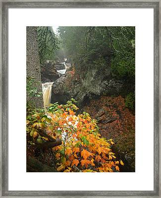 Cascading Steps Framed Print by James Peterson