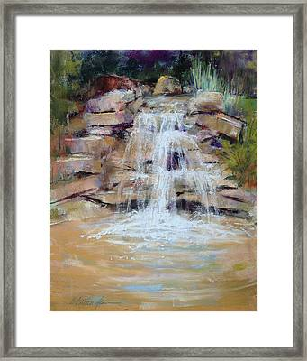 Cascading Water Framed Print by Beverly Amundson
