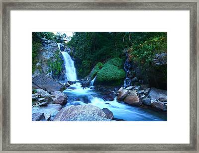 Cascading Water Framed Print by FireFlux Studios