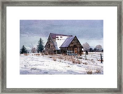 Cache Valley Barn Framed Print