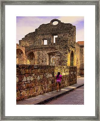 Casco Viejo Sunset Framed Print by Kandy Hurley