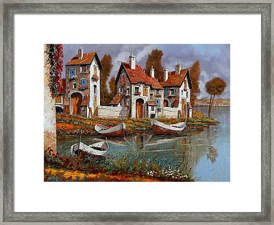 Case A Cerchio Framed Print by Guido Borelli