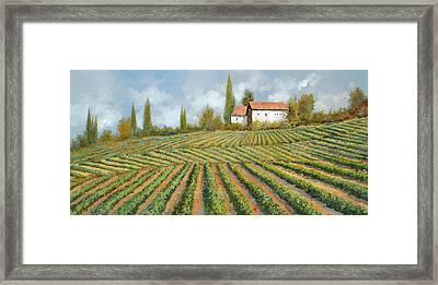 Case Bianche Nella Vigna Framed Print by Guido Borelli