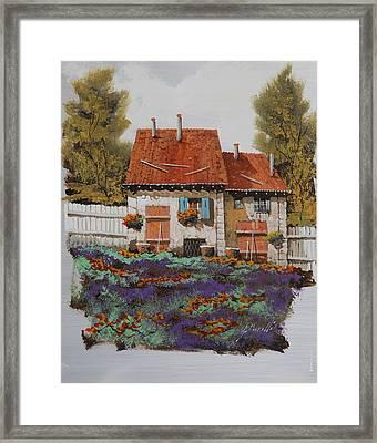 Case E Lavande Framed Print by Guido Borelli