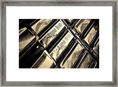Case Of Harmonicas  Framed Print