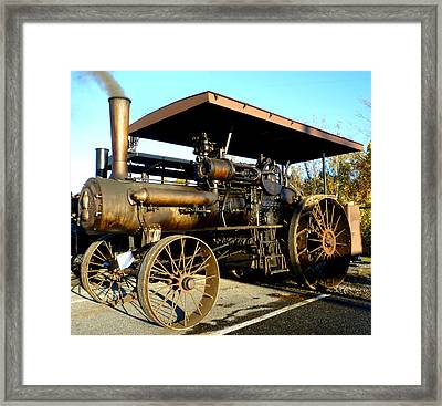 Framed Print featuring the photograph Case Steam Tractor by Pete Trenholm