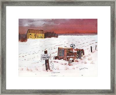 Case Tractor 4 Sale Framed Print by Jack G  Brauer