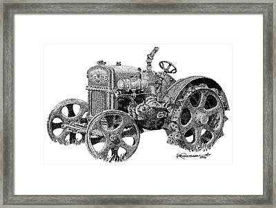 Case Tractor Framed Print by Rob Christensen
