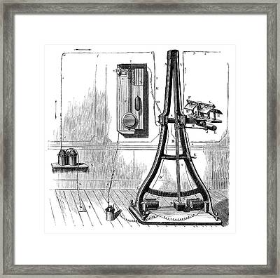 Caselli Pantelegraph Framed Print by Science Photo Library