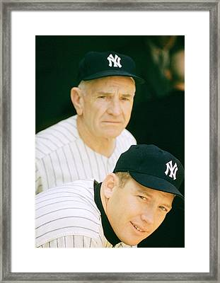 Casey Stengel And Mickey Mantle Framed Print