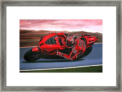 Casey Stoner On Ducati Framed Print
