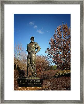 Casey Waits For Spring Framed Print