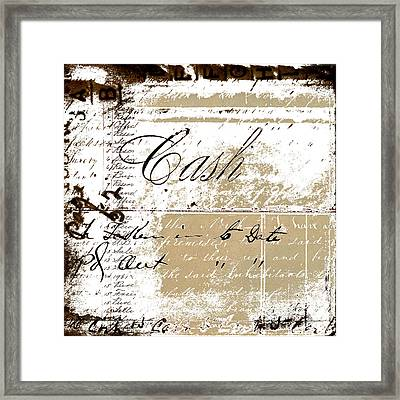 Cash Framed Print by Carol Leigh