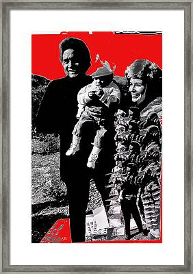 Framed Print featuring the photograph Cash Family In Red Old Tucson Arizona 1971-2008 by David Lee Guss