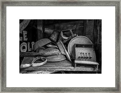 Cash Register Framed Print