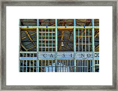 Casino Asbury Park New Jersey Framed Print by Susan Candelario