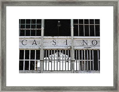 Casino Asbury Park New Jersey Framed Print