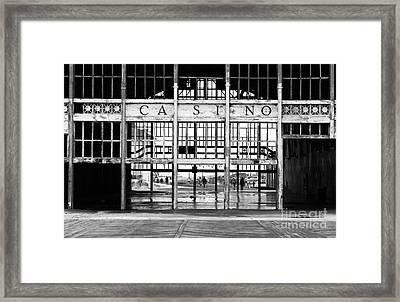 Casino Entrance Framed Print by John Rizzuto