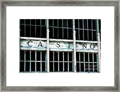 Casino Framed Print