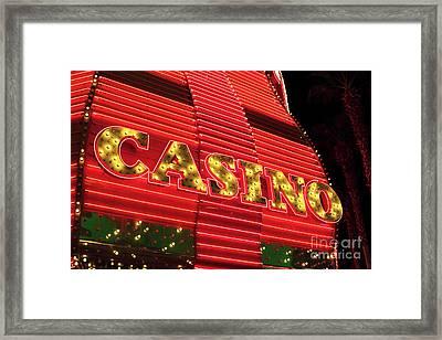 Casino Neon Framed Print