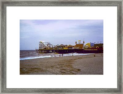 Framed Print featuring the photograph Casino Pier Boardwalk - Seaside Heights Nj by Glenn Feron