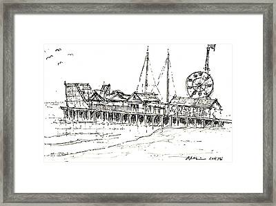 Casino Pier In Seaside Heights Nj Framed Print by Jason Nicholas