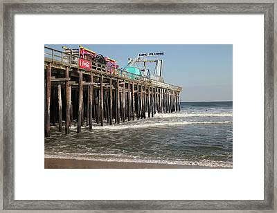 Casino Pier  Seaside  Nj Framed Print by Neal Appel