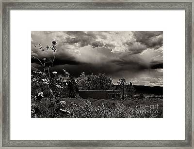 Casita In A Storm Framed Print